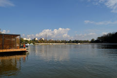 Calarasi city seen from the river Borcea. Calarasi Borcea river seen from the end of October. It shows the beach promenade on the river willow forest Borcea stock images
