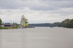 Free Calarasi Industrial Dock And Barge On Danube Stock Photography - 51773222