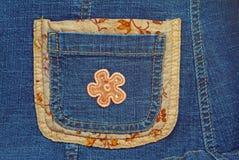 Calças azuis das calças de brim da sarja de Nimes Imagem de Stock Royalty Free