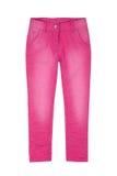 Calças cor-de-rosa da menina Fotos de Stock