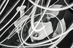 Calas y las líneas ligeras Imágenes de archivo libres de regalías