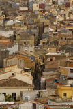 Calatafimi view of city ,sicilia,italy Royalty Free Stock Photos