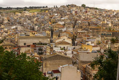 Calatafimi view of city ,sicilia,italy Stock Photo