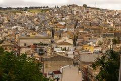 Calatafimi view of city ,sicilia,italy stock photo