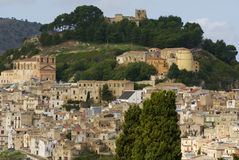 Calatafimi view of city ,sicilia,italy Stock Images