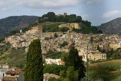 Calatafimi view of city ,sicilia,italy royalty free stock images