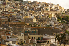 Calatafimi view of city ,sicilia,italy Stock Image