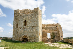 Calatanazor, Soria Spain. Ruins of a medieval fortress in Calatanazor, Soria Spain Stock Photos