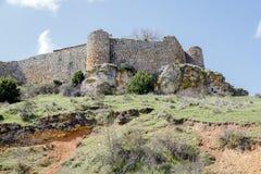 Calatanazor, Soria Spain. Ruins of a medieval fortress in Calatanazor, Soria Spain Stock Photo