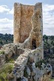 Calatanazor, Soria Spain. Ruins of a medieval fortress in Calatanazor, Soria Spain Stock Image