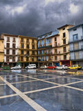 Calatayud, Spain. Main street during a storm Royalty Free Stock Images