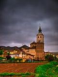 Calatayud, Spain. Rustic landscape under a storm Royalty Free Stock Photo