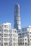 Calatrava. Turning torso in Malmo, Sweden, designing by Sebastian Calatrava...from the West Harbour close to the city center Stock Image