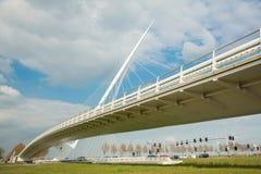 Calatrava Bridge Cither, Holland. Haarlemmermeer, the Netherlands - May 04, 2016 - Calatrava Bridge Cither is one of three bridges in the Haarlemmermeer, the royalty free stock photos