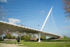 Calatrava Bridge Harp, Holland. Haarlemmermeer, the Netherlands - May 04, 2016 - Calatrava Bridge Harp is one of three bridges in the Haarlemmermeer, the stock photo