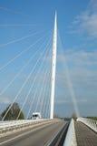 Calatrava Bridge Harp, Holland. Haarlemmermeer, the Netherlands - May 04, 2016 - Calatrava Bridge Harp is one of three bridges in the Haarlemmermeer, the royalty free stock photography