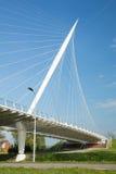 Calatrava Bridge Harp, Holland. Haarlemmermeer, the Netherlands - May 04, 2016 - Calatrava Bridge Harp is one of three bridges in the Haarlemmermeer, the royalty free stock photos
