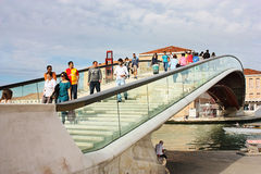 Calatrava Bridge in Venice Stock Photography