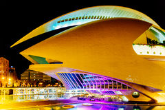 Calatrava City Of Arts And Sciences In Downtown City Of Valencia. VALENCIA, SPAIN - JULY 25, 2016: Calatrava City Of Arts And Sciences In Downtown City Of Royalty Free Stock Images