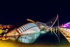 Calatrava City Of Arts And Sciences In Downtown City Of Valencia. VALENCIA, SPAIN - JULY 25, 2016: Calatrava City Of Arts And Sciences In Downtown City Of Royalty Free Stock Photography
