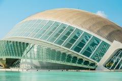 Calatrava City Of Arts And Sciences In Downtown City Of Valencia. VALENCIA, SPAIN - JULY 22, 2016: Calatrava City Of Arts And Sciences In Downtown City Of Stock Photo