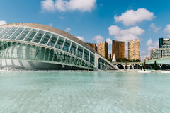 Calatrava City Of Arts And Sciences In Downtown City Of Valencia. VALENCIA, SPAIN - JULY 22, 2016: Calatrava City Of Arts And Sciences In Downtown City Of Royalty Free Stock Photography