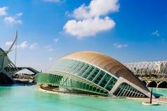 Calatrava City Of Arts And Sciences In Downtown City Of Valencia. VALENCIA, SPAIN - JULY 22, 2016: Calatrava City Of Arts And Sciences In Downtown City Of Stock Image