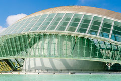Calatrava City Of Arts And Sciences In Downtown City Of Valencia. VALENCIA, SPAIN - JULY 22, 2016: Calatrava City Of Arts And Sciences In Downtown City Of Royalty Free Stock Photos