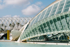 Calatrava City Of Arts And Sciences In Downtown City Of Valencia. VALENCIA, SPAIN - JULY 22, 2016: Calatrava City Of Arts And Sciences In Downtown City Of Royalty Free Stock Images