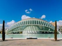 Calatrava City Of Arts And Sciences In Downtown City Of Valencia. VALENCIA, SPAIN - JULY 22, 2016: Calatrava City Of Arts And Sciences In Downtown City Of Royalty Free Stock Photo