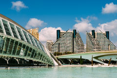 Calatrava City Of Arts And Sciences In Downtown City Of Valencia. VALENCIA, SPAIN - JULY 22, 2016: Calatrava City Of Arts And Sciences In Downtown City Of Stock Images