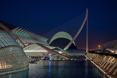 Calatrava Masterpieces in Valencia, Spain. A detail of the City of Arts and Sciences in Valencia, Spain, architectural masterpiece of Santiago Calatrava. Shot at stock photos