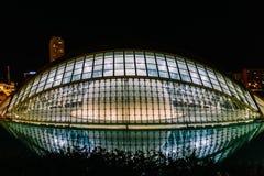 Calatrava stad av konster och vetenskaper i i stadens centrum stad av Valencia fotografering för bildbyråer