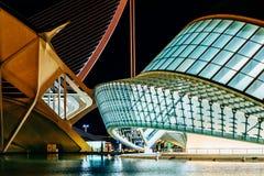 Calatrava stad av konster och vetenskaper i i stadens centrum stad av Valencia arkivbilder