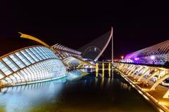 Calatrava stad av konster och vetenskaper i i stadens centrum stad av Valencia arkivbild