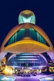 Calatrava stad av konster och vetenskaper i i stadens centrum stad av Valencia royaltyfria foton