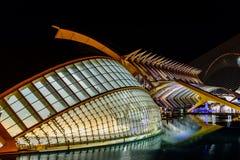 Calatrava stad av konster och vetenskaper i i stadens centrum stad av Valencia royaltyfri foto