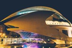 Calatrava stad av konster och vetenskaper i i stadens centrum stad av Valencia royaltyfri bild
