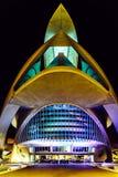 Calatrava stad av konster och vetenskaper i i stadens centrum stad av Valencia arkivfoto