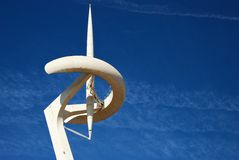 Calatrava tower - Barcelona. Calatrava tower - The communication tower of the Olympic city in Barcelona - Spain Royalty Free Stock Photo