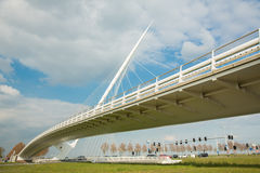 Calatravabrug Cither, Holland Royalty-vrije Stock Foto's