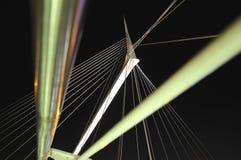 Calatravas Fußgängerbrücke in Petah Tikva, Isra Stockfotografie