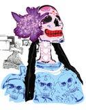 Calavera Catrina e dia dos mortos Imagem de Stock Royalty Free