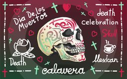 Calavera greeting banner Stock Images