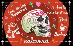 Calavera greeting banner Royalty Free Stock Photography