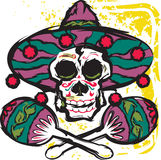 Calavera Maracas Royalty Free Stock Photography