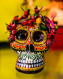 Calavera 1. Mexican skull, decorative craft used as a representation of death people in celebration of the day of the death Stock Photo