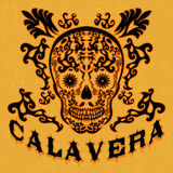 Calavera - skull spanish text Royalty Free Stock Image