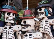 Calaveras mexicanas 1. Artesanías mexicanas, calaveras de barro de Teotihuacán Stock Images