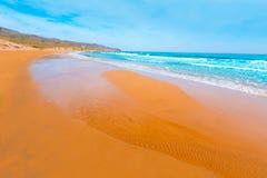 Calblanque海滩公园Manga穆尔西亚3月Menor 库存照片